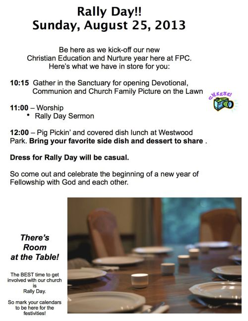 Rally Day flyer13