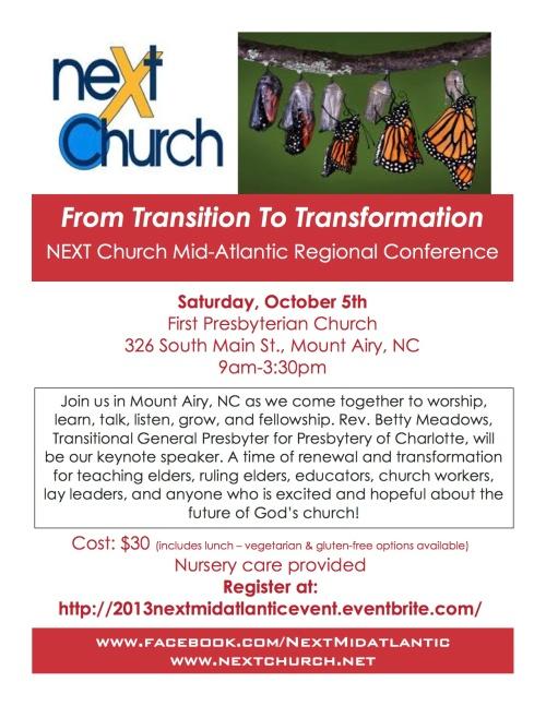 NEXT Mid-Atlantic Conference brochure